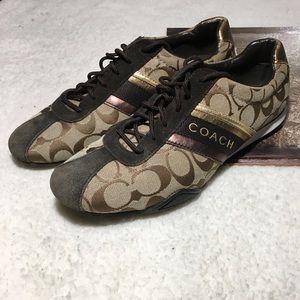 COACH Jayme Jacquard Signature C Sneakers Size 9M
